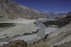 在Ladakh的Nubra谷 免版税库存图片