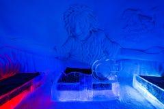 在Lainio雪村庄冰旅馆套房在Yllasjar 库存图片
