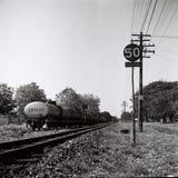 在lampang的火车轨道 库存照片