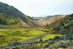 在Landmannalaugar的多彩多姿的山 免版税图库摄影
