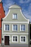 在landshut,巴伐利亚的门面 免版税库存图片