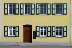在landshut,巴伐利亚的门面 免版税库存照片