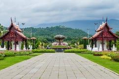 在Lanna样式的传统泰国建筑学,皇家Pavilio 库存图片