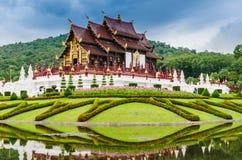 在Lanna样式的传统泰国建筑学,皇家Pavilio 免版税库存图片