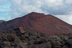 在Lanzarote的火山 库存照片