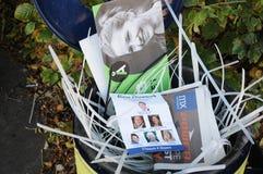 在LARGRAVE PLADS的所有党理事会竞选PLAYCARD 免版税图库摄影
