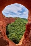 在Las Médula的洞 免版税图库摄影