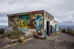 在Las Teresitas特内里费岛-西班牙2016年10月的观点的街道画, 26 免版税库存照片