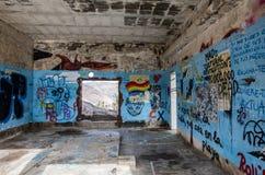 在Las Teresitas特内里费岛-西班牙2016年10月的观点的街道画, 26 免版税库存图片