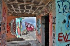 在Las Teresitas特内里费岛-西班牙2016年10月的观点的街道画, 26 库存照片