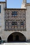 在lauzerte,法国的一个老大厦 库存照片