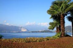在Laveno,意大利附近的Lago Maggiore 免版税库存图片