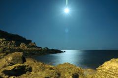 在Le Castella的爱奥尼亚海 免版税图库摄影