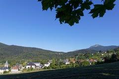 在Le Sappey村庄的早晨  图库摄影