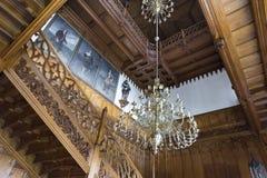 在Lednice城堡的装饰cstaircase 免版税库存图片