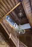 在Lednice城堡的装饰cstaircase Lednice城堡 免版税库存照片