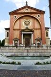 在legnano老教会关闭了边路意大利伦巴第 免版税库存照片