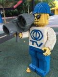 在legoland的乐高雕象 免版税库存图片