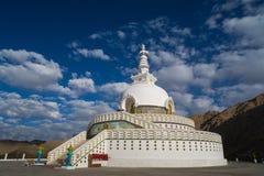 在Leh的Shanti Stupa 图库摄影