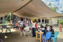 在Lempo村庄举行的立法大选 塔娜Toraja 库存图片