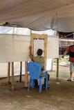 在Lempo村庄举行的立法大选 塔娜Toraja 免版税库存图片