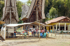 在Lempo村庄举行的立法大选 塔娜Toraja 库存照片