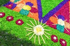 在Lent地毯,安提瓜岛,危地马拉的细节 免版税库存图片