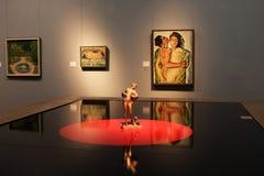在Leopold博物馆里面的陈列在维也纳 免版税库存照片