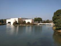 在liangzhu博物馆036附近的桥梁 库存图片