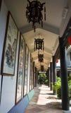 在Lichi海湾的中国古老走廊 库存图片