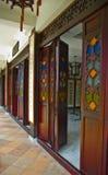 在Lichi海湾的古老走廊 库存图片