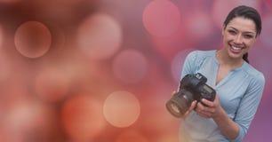 在lightss_0018前面的摄影师 图库摄影