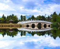 在Lijiang中国附近的一个风景公园 库存图片