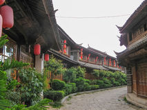 在lijiang,云南,中国的Sifang街道 免版税库存照片