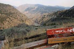 在Lillooet,不列颠哥伦比亚省,加拿大附近的弗拉塞尔河峡谷 免版税图库摄影
