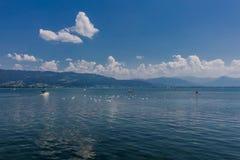 在lindau上午bodensee的美妙的夏日 库存照片