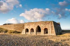 在Lindisfarne的石灰窑 免版税库存图片