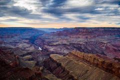 在Lipan点的日落大峡谷 免版税图库摄影