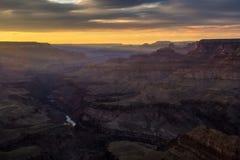 在Lipan点(2)的日落大峡谷 图库摄影