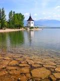 在Liptovska玛拉湖的晴天,斯洛伐克 免版税库存照片