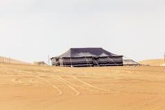 在Liwa绿洲的沙漠阵营 库存图片