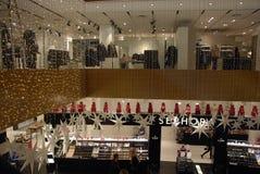在LLUM百货大楼的圣诞节装饰 库存图片