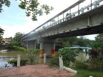 在Loboc,保和岛的未完成的桥梁 库存照片