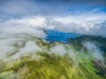 在Lofoten上的云彩 库存图片