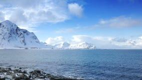 在Lofoten海岛的冬天 股票录像