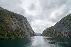 在Lofoten/Vesteralen,挪威的壮观的Trollfjorden 图库摄影