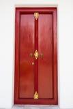 在Loha Prasat的红色门金属宫殿 免版税库存照片