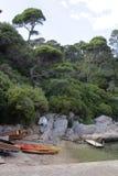 在Lokrum海岛的独木舟 免版税库存图片