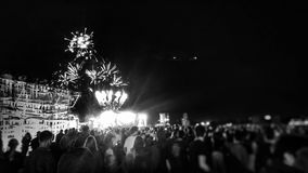 在Lollapalooza的烟花 库存图片