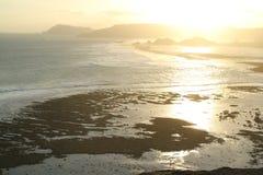 在Lombok海岛南部的日落  免版税图库摄影